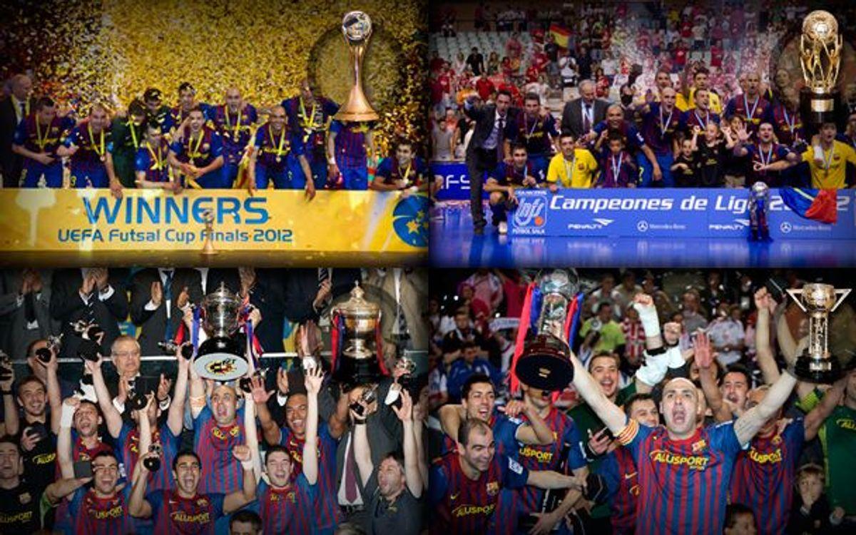El Barça Alusport, el millor Club de futbol sala del món del 2012