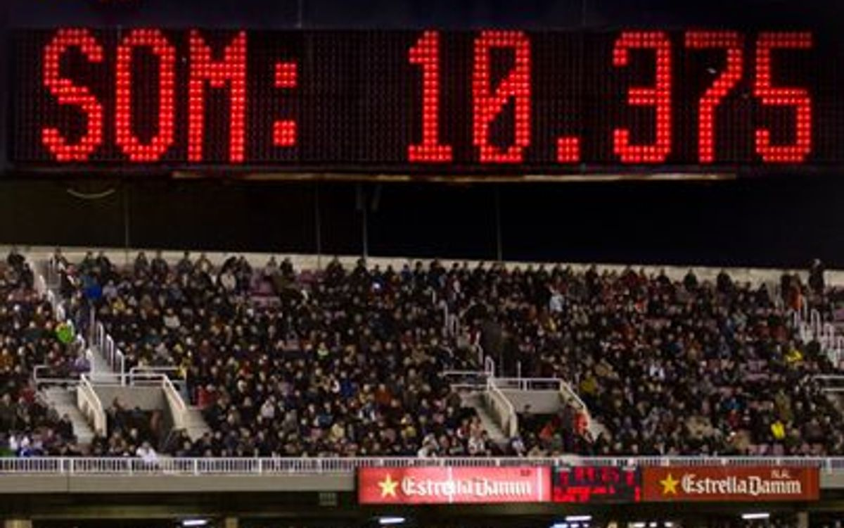 Barça B-Elx: 10.375 espectadors, rècord de la temporada
