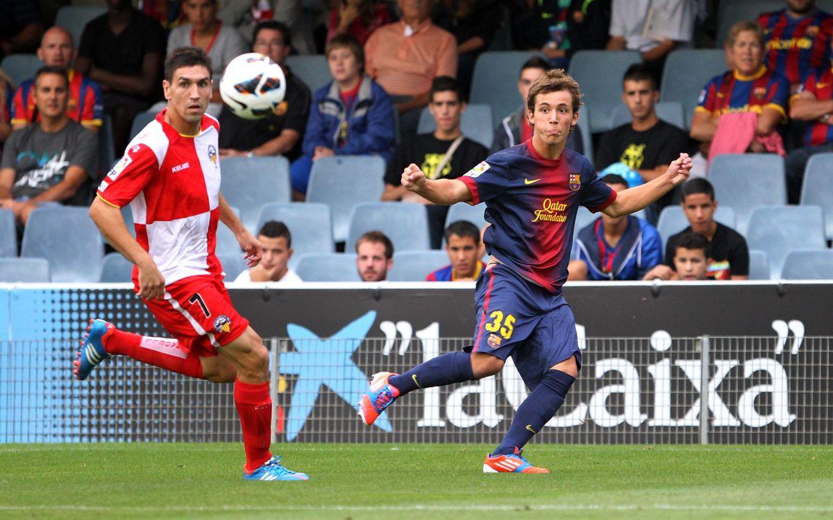 El Barça B juga davant el Sabadell buscant la desena jornada d'imbatibilitat