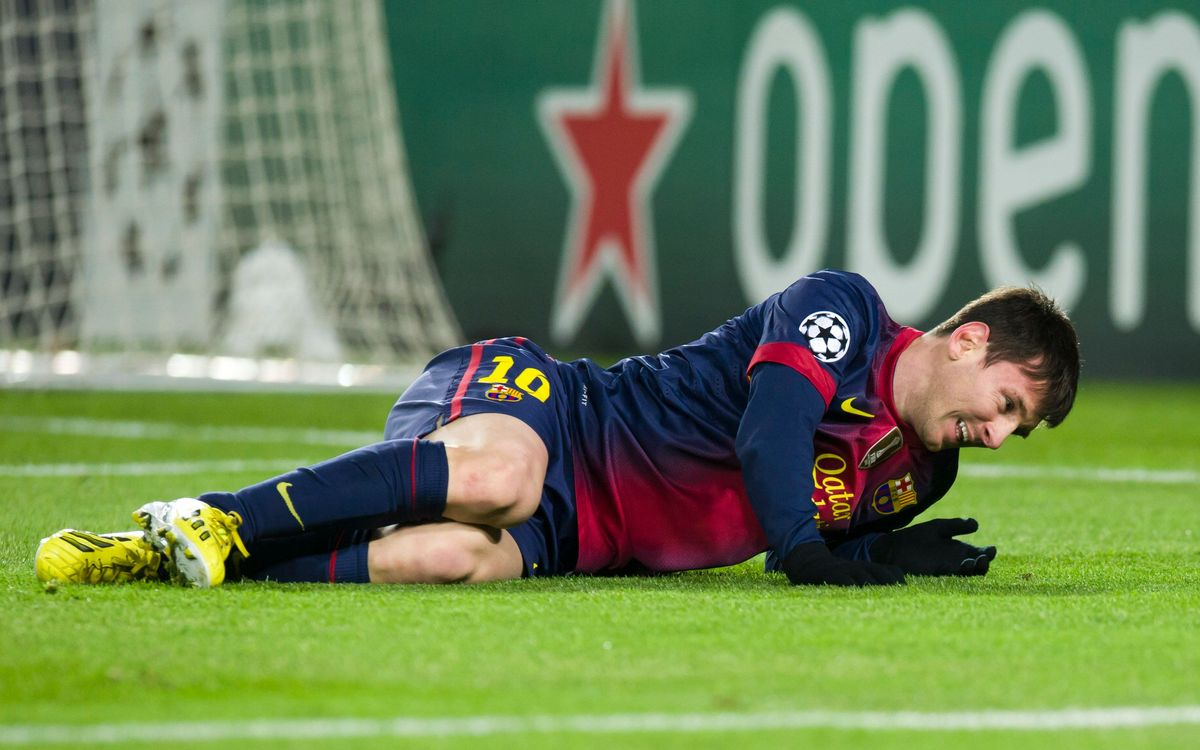 Tests confirm that Messi sustained a bone contusion on the outside of his left knee