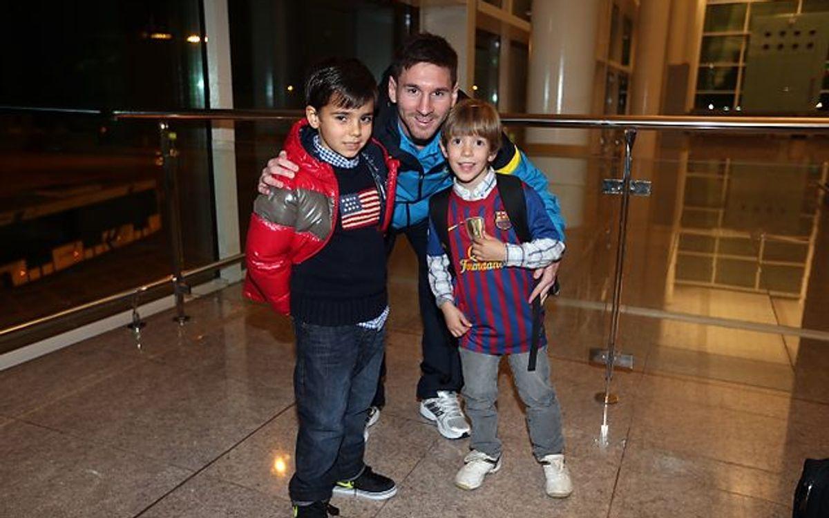 Barça arrive in Valladolid