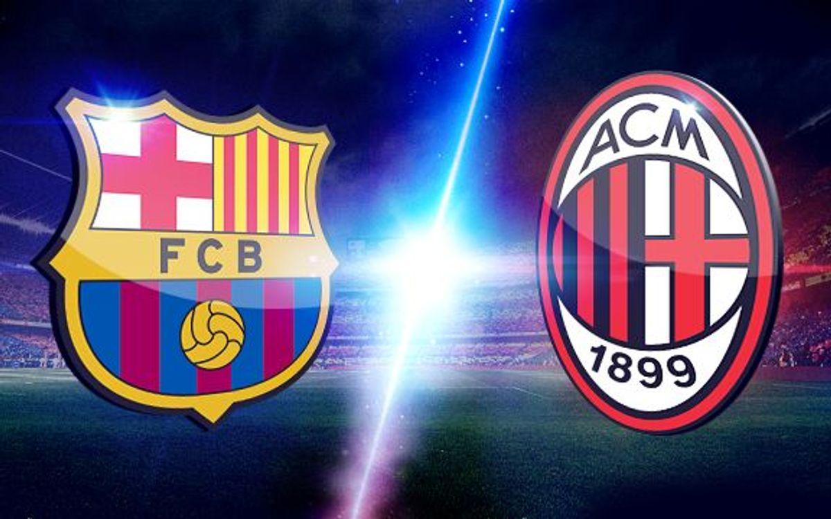 L'AC Milan, rival als vuitens de la Lliga de Campions