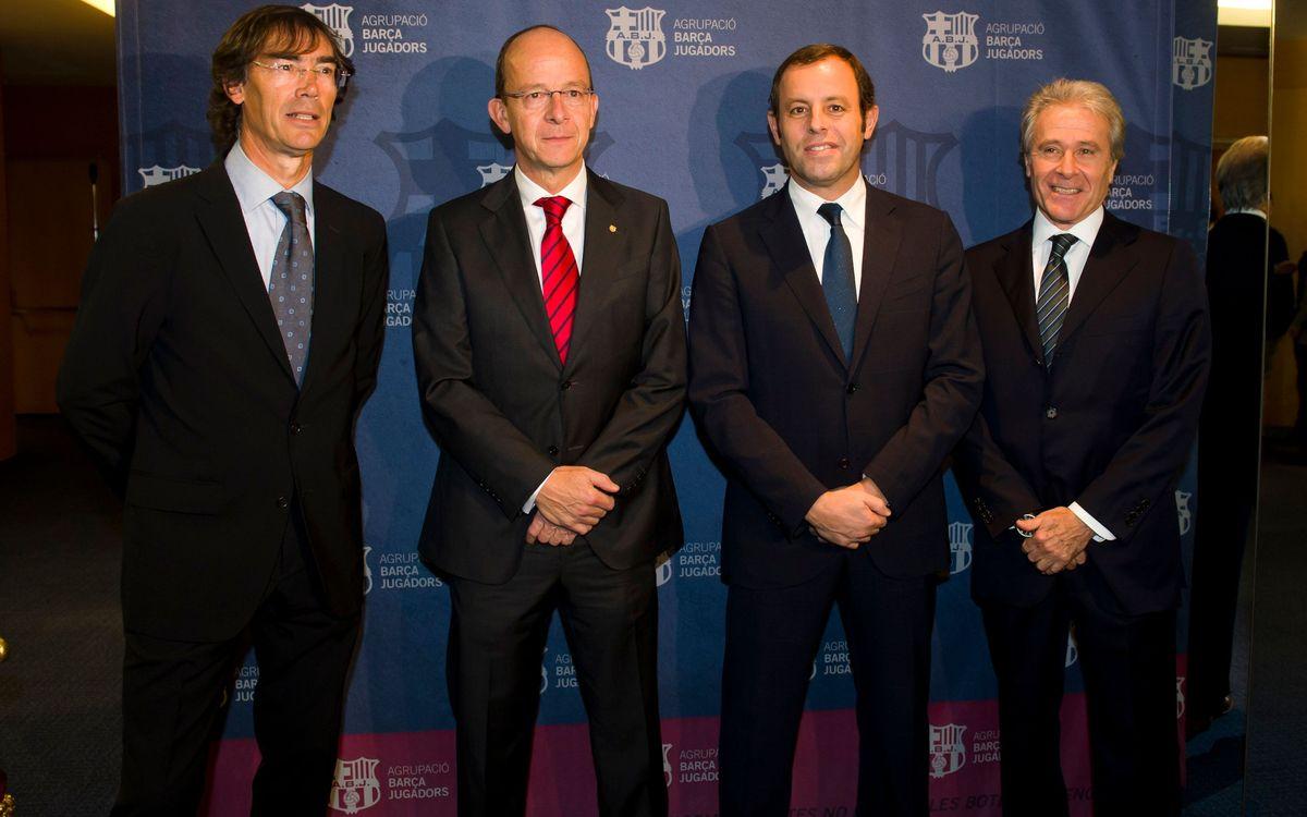 Sandro Rosell presideix el Sopar Anual de l'Agrupació Barça Jugadors