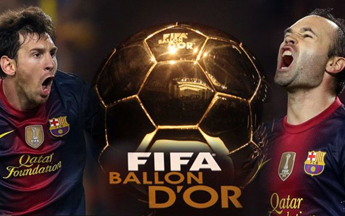 FIFA Ballon d'Or: Messi and Iniesta, among the three finalists