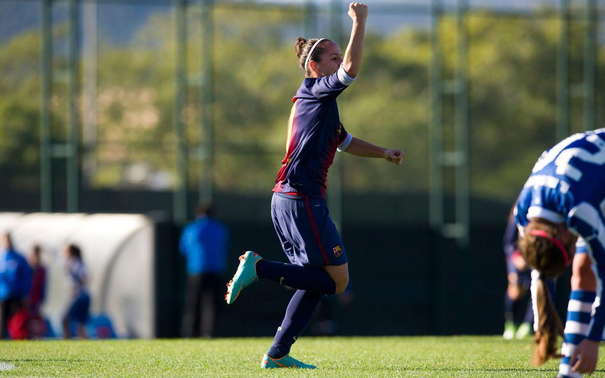 El Femení A guanya el derbi amb un gol de Corredera en la recta final (1-0)