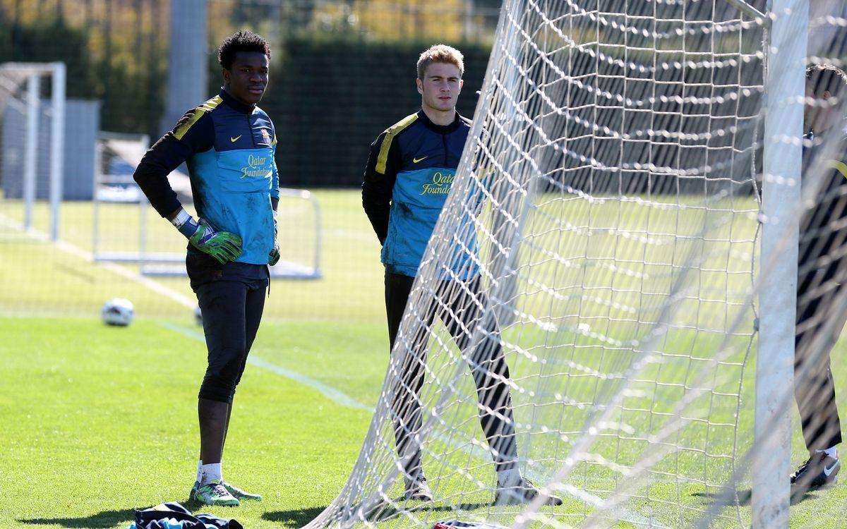 Bañuz i Ondoa seran els guardians de la porteria del Barça B