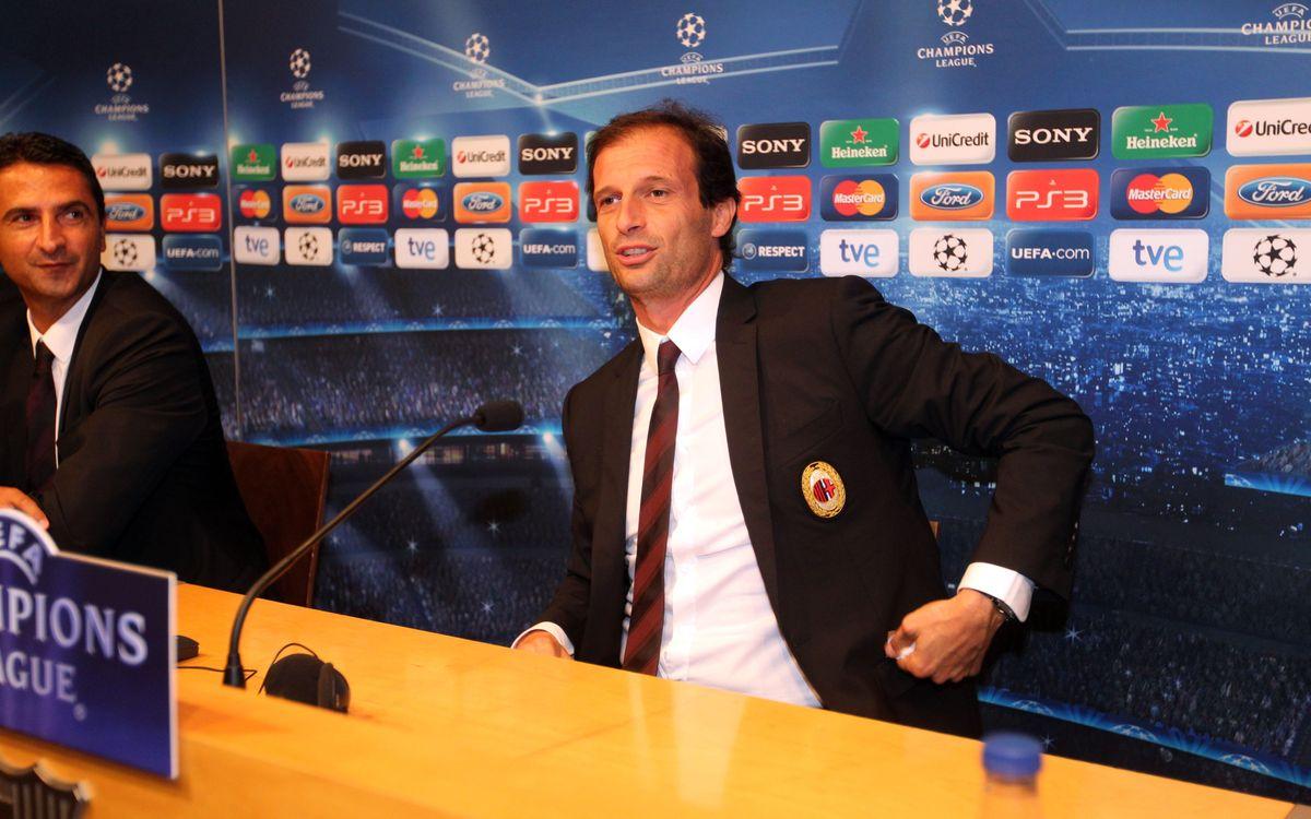 Massimiliano Allegri confirms his back line for Barça clash