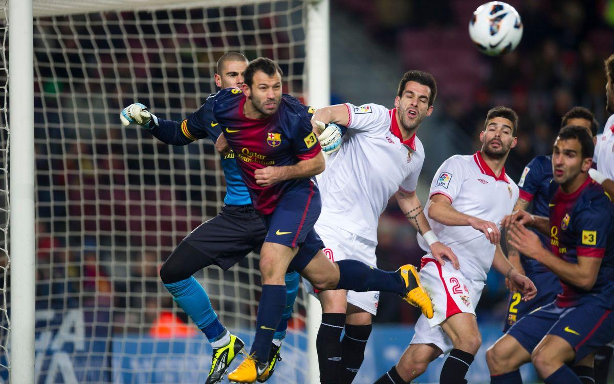 L'équipe contente après Séville