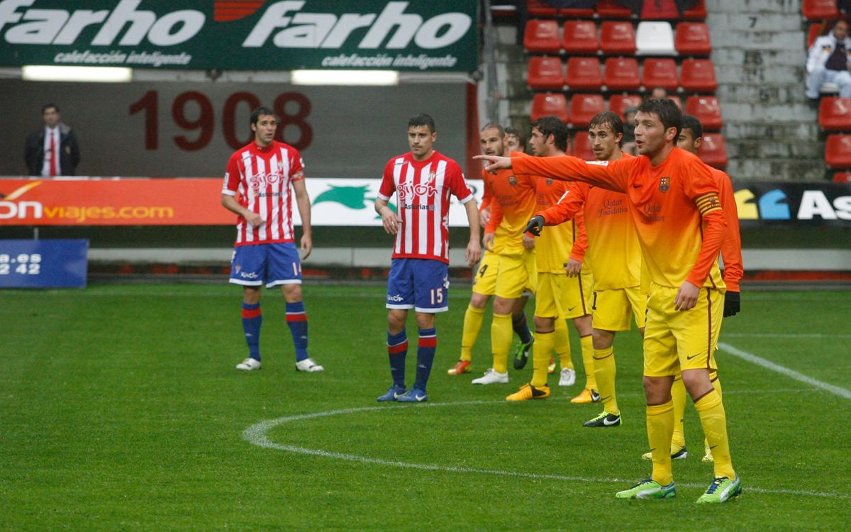 Sporting-FCB B: The Blaugrana fall in Gijón (5-2)