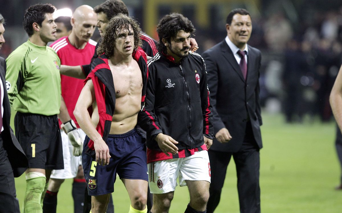 Carles Puyol a constant presence against Milan