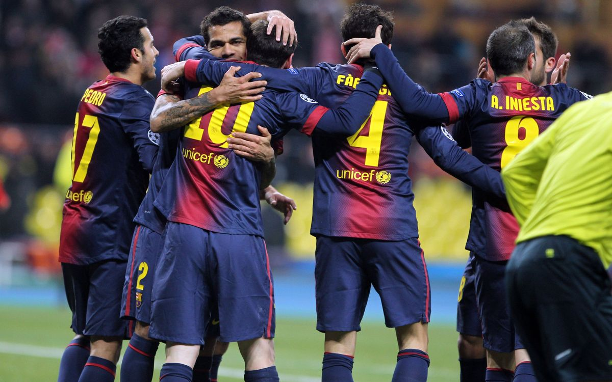 Nine consecutive Round of 16 berths for FC Barcelona