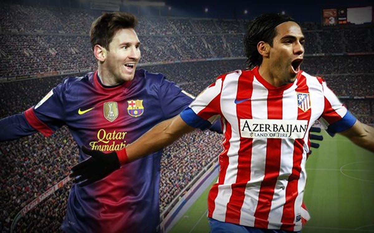 Messi and Falcao go head to head