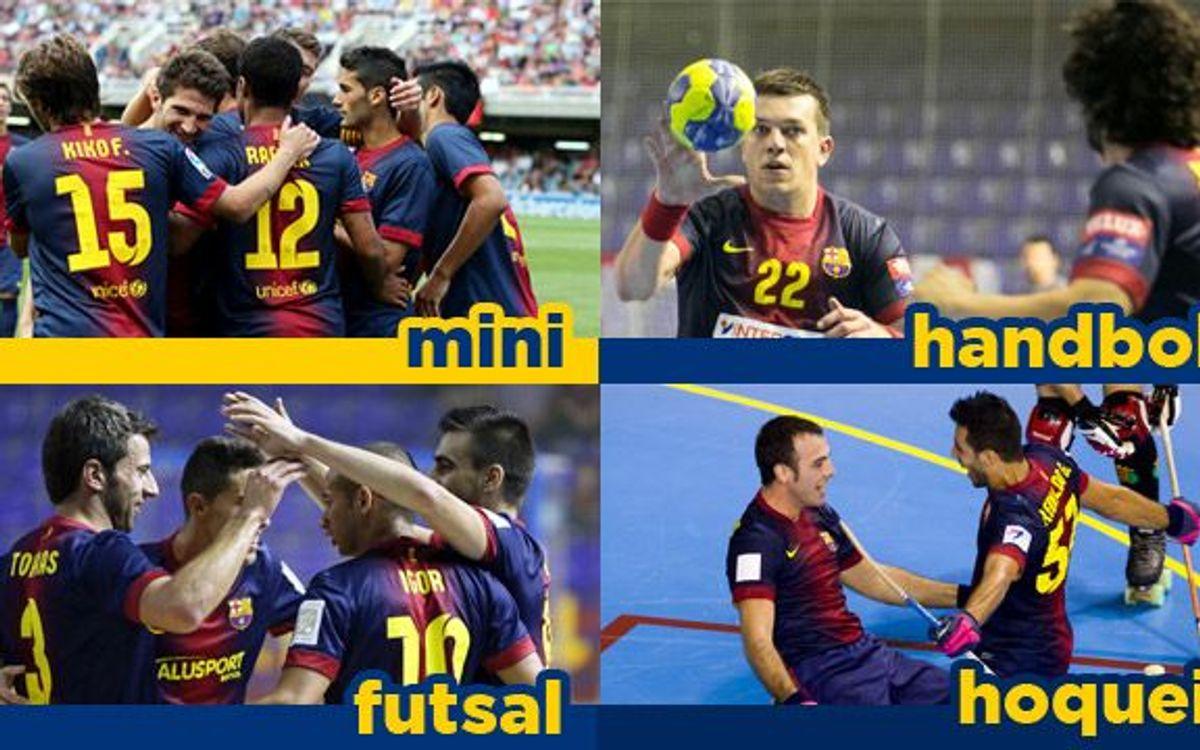 Entrada gratuïta a tots els partits d'handbol, futbol sala, hoquei patins i pel Barça B al Mini
