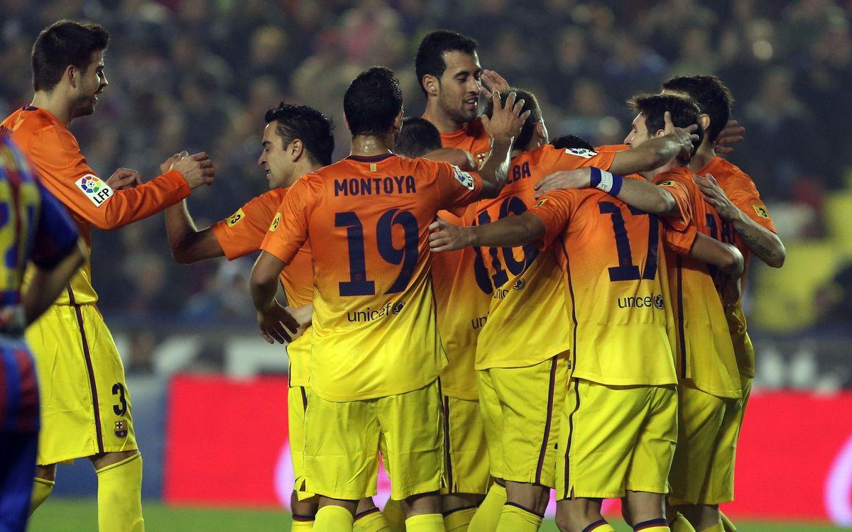 Levante - FC Barcelona: Masia alumni put four past Levante