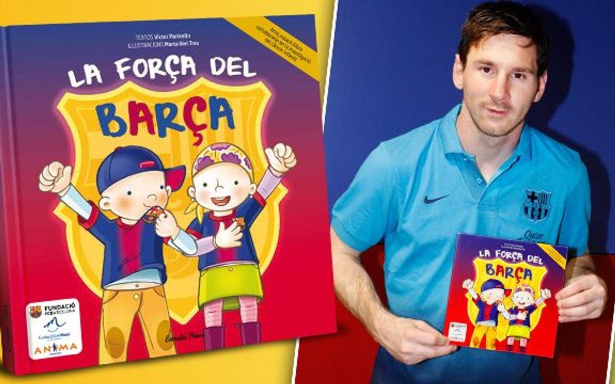 レオ・メッシが小児がんと闘う子供達への基金を募るべく、児童福祉書'バルサ・パワー'のスポンサーに