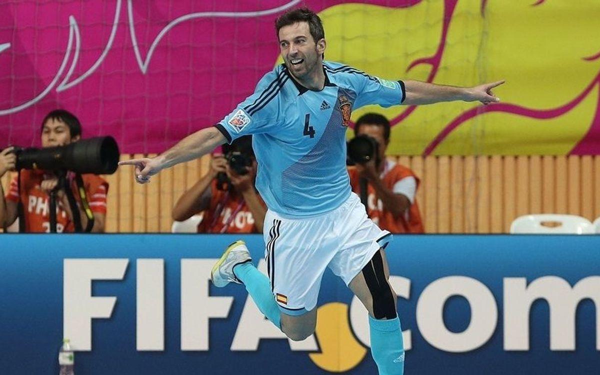 Espanya, a quarts, amb gols blaugrana (1-7)