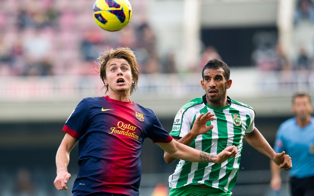Racing-Barça B, partit d'interessos oposats