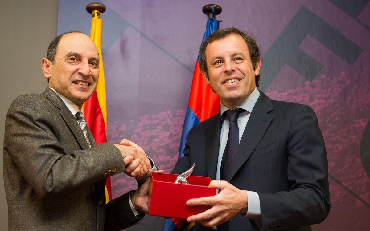 Presentació institucional de Qatar Airways com a patrocinador principal global del FC Barcelona