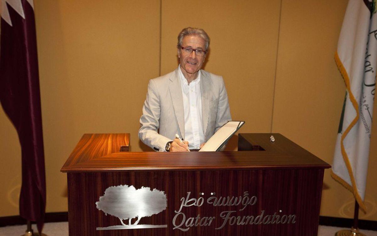 Qatar Foundation hosts Agrupació Barça Veterans