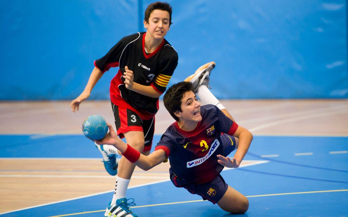 Triomfs de l'handbol formatiu del FC Barcelona Intersport