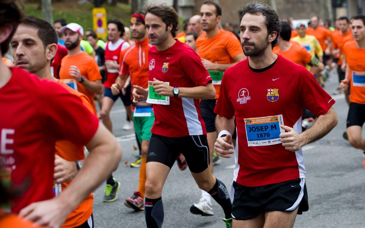 La Jean Bouin s'ha celebrat amb una alta participació del 'Corrent fem Barça'