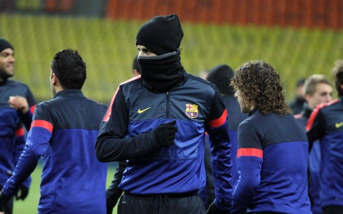 How Barça will fight the cold in Moscow