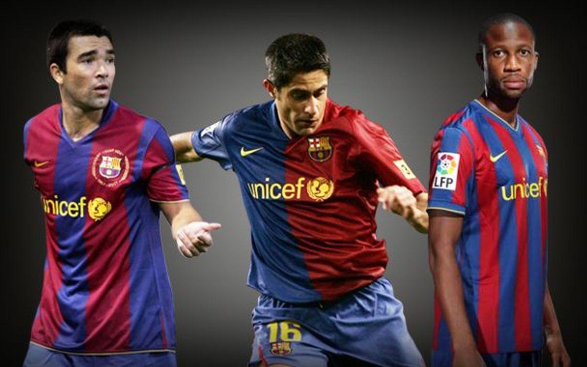 FC Barcelona to acknowledge Deco, Sylvinho and Keita's contribution to the Club