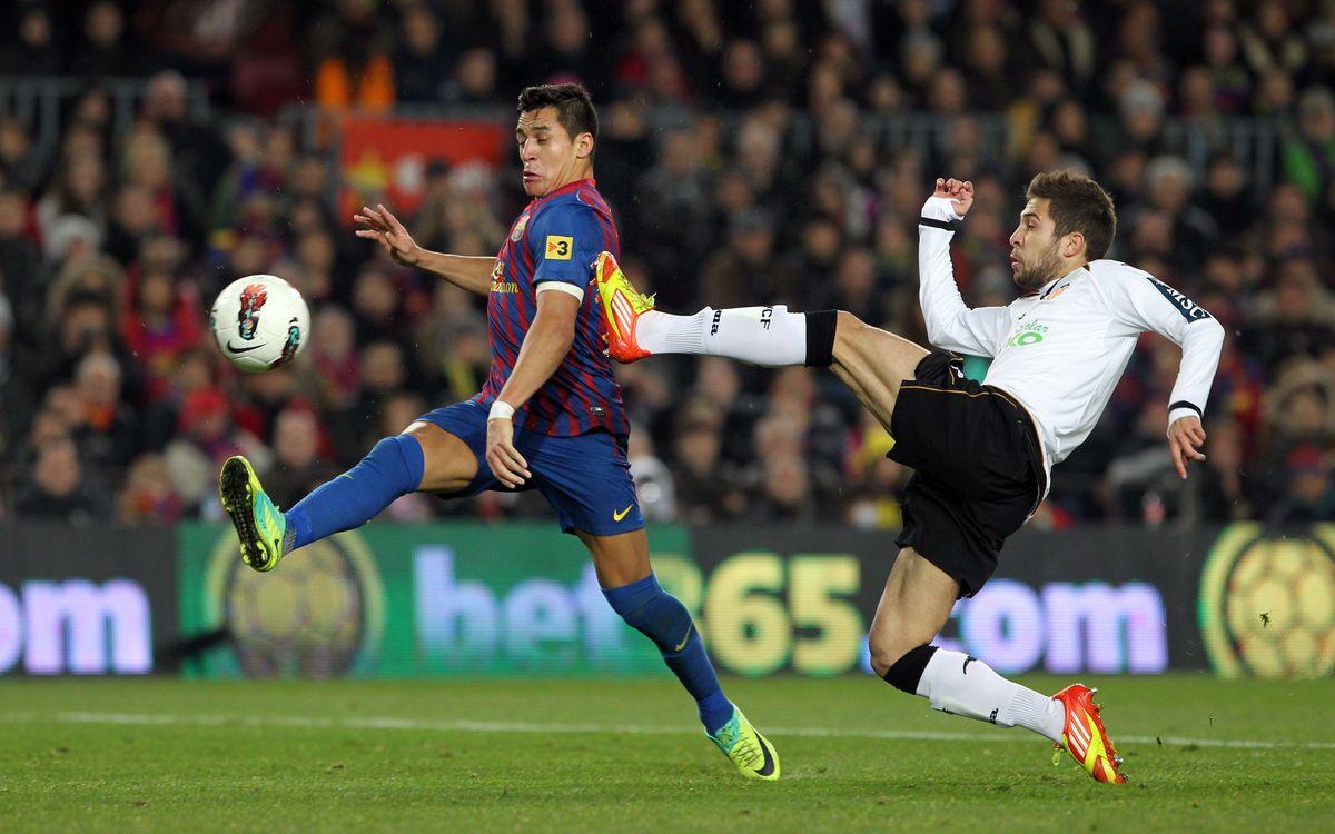 Jordi Alba retourne à Mestalla