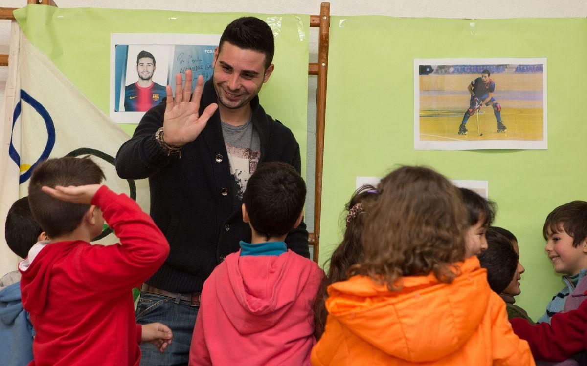 Marc Torra visita l'escola Alexandre Galí de Badalona