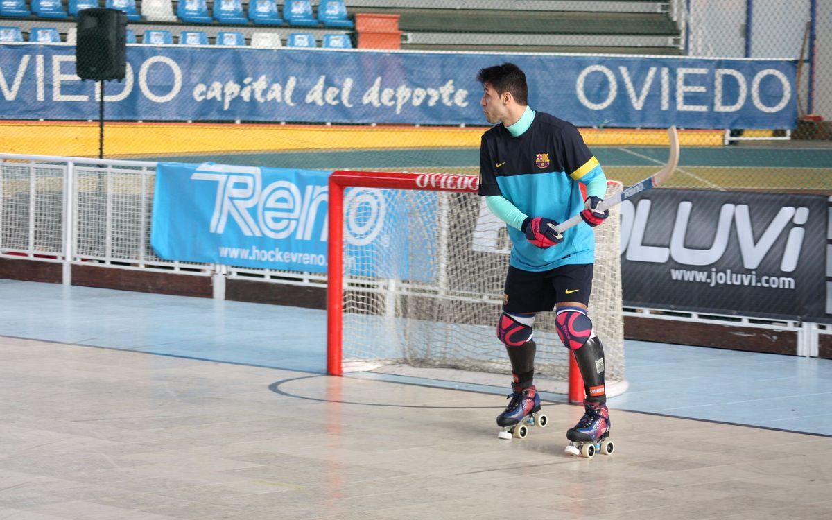El Barça arriba a Oviedo i prova la pista blava del Palacio Municipal de Deportes