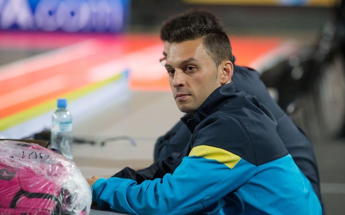 El FC Barcelona Alusport s'entrena per darrera vegada a l'Sports Palace de Tbilissi