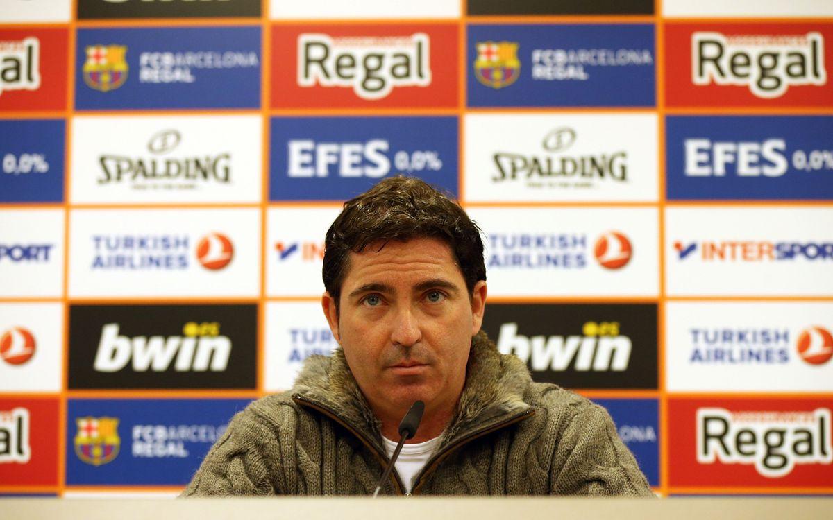 """Xavi Pascual: """"Esperem un partit travat contra el Khimki"""""""