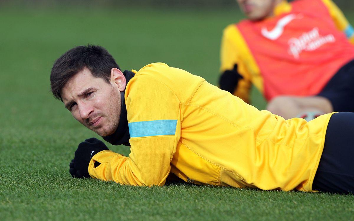Messi absent de l'entrainement