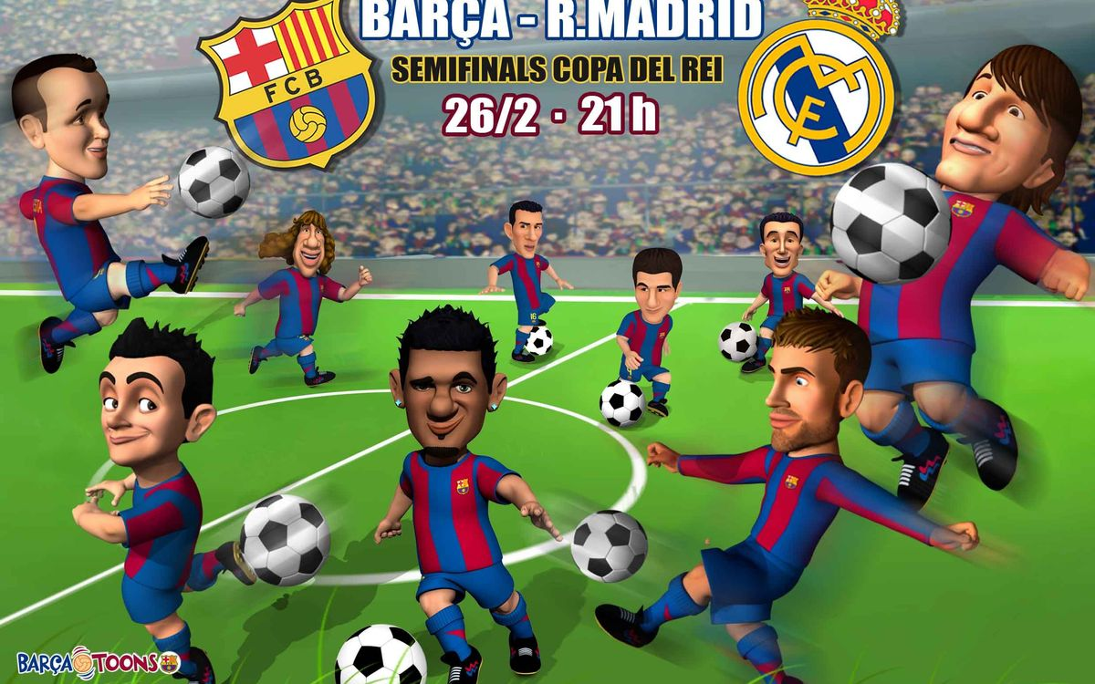 Barça Toons, ready for The Clásico!