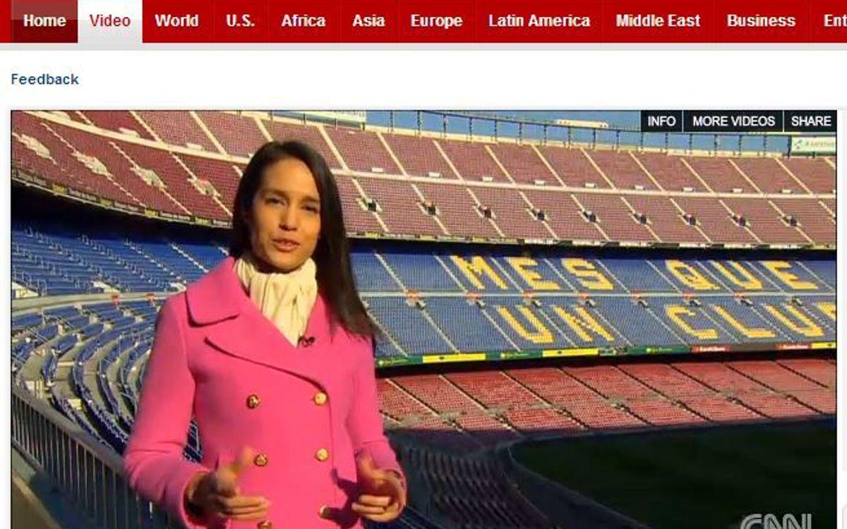 CNN、 FC バルセロナはソーシャルネットワーク、テクノロジーにおいて世界の指針だと報道