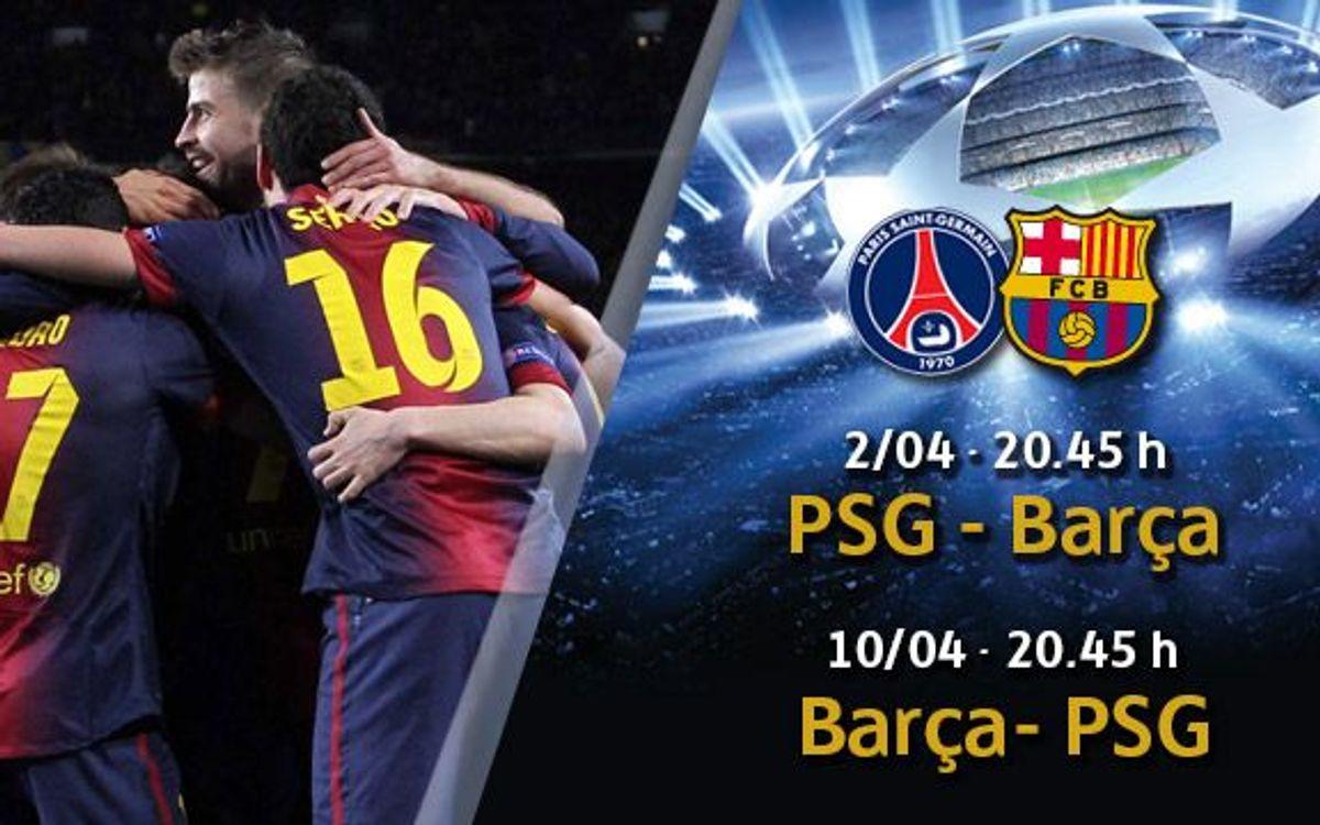 PSG – Barça: entrades a partir de dimecres