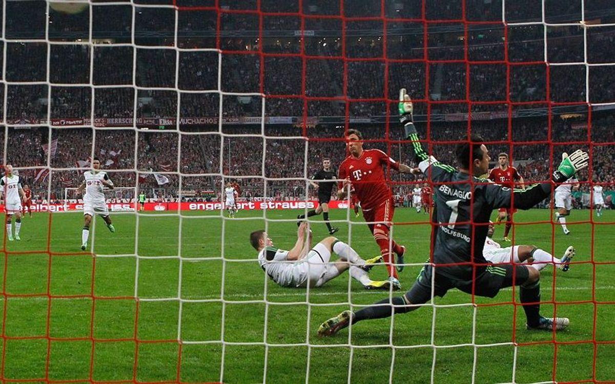 FC Bayern-Wolfsburg: Jugaran la final de la Copa (6-1)