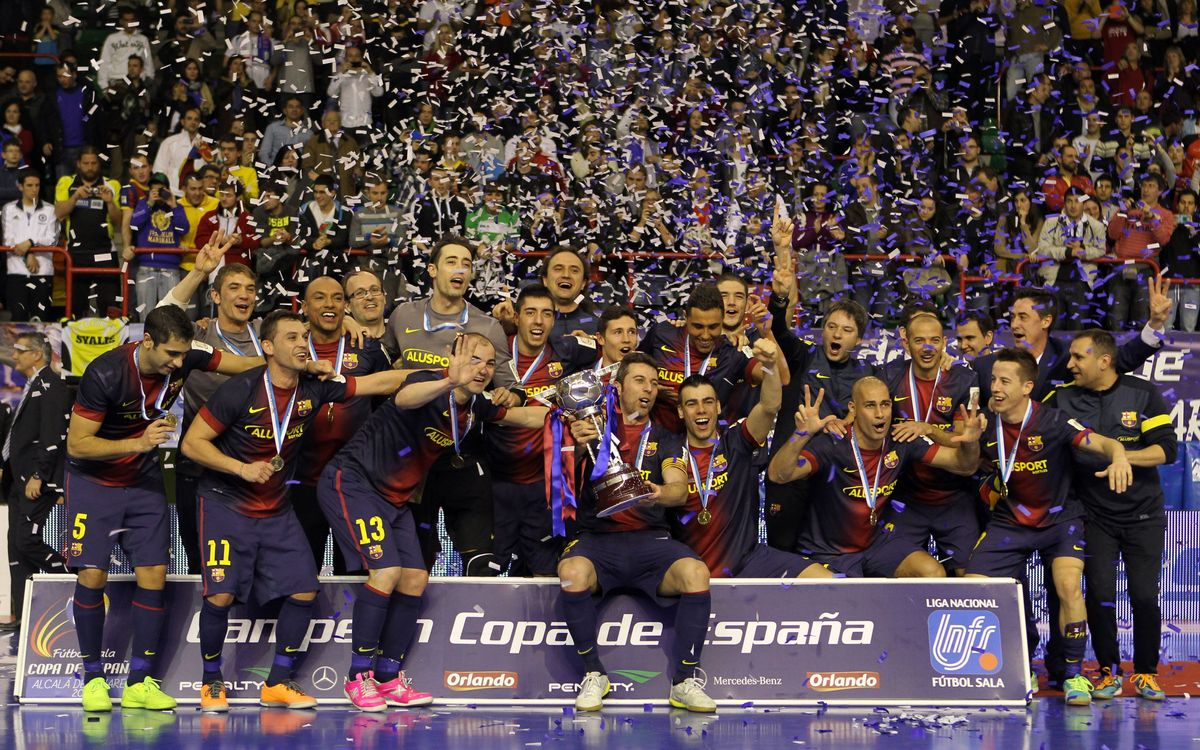 Comeback and champions of the 2013 Spanish Cup (4-2)