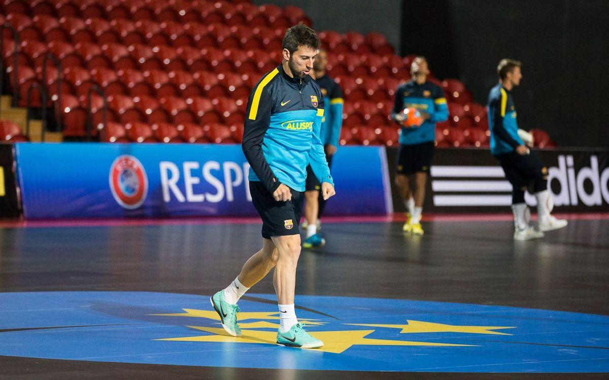 Jordi Torras, amb l'alta, a punt per a l'inici de la UEFA Futsal Cup
