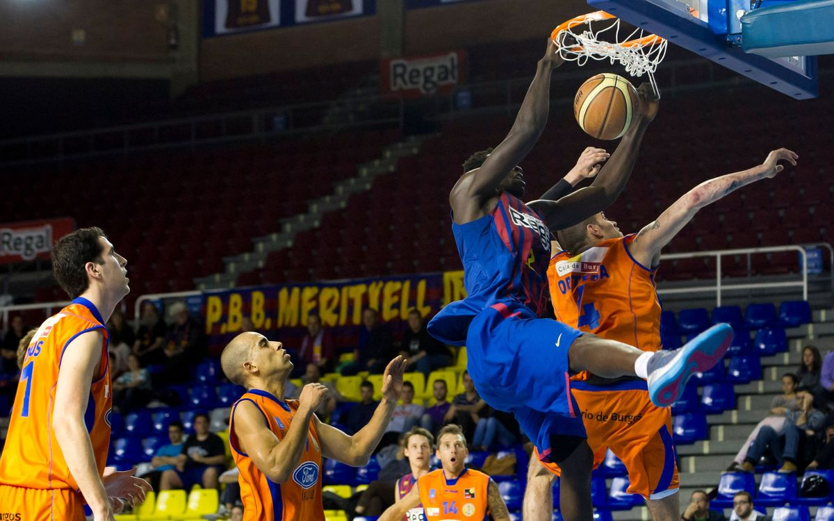 Barça Regal B - Ford Burgos: Derrota contundent contra el segon classificat (65-90)