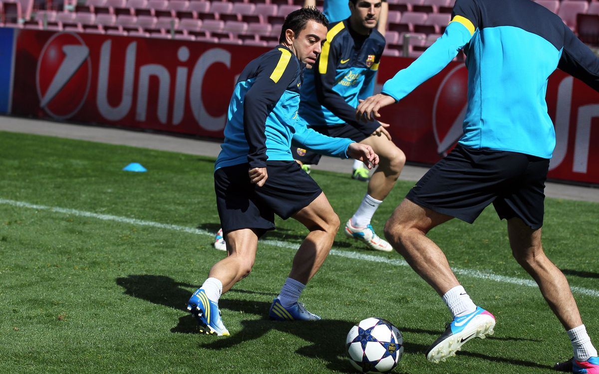 Xavi passed fit to play after training at the Camp Nou