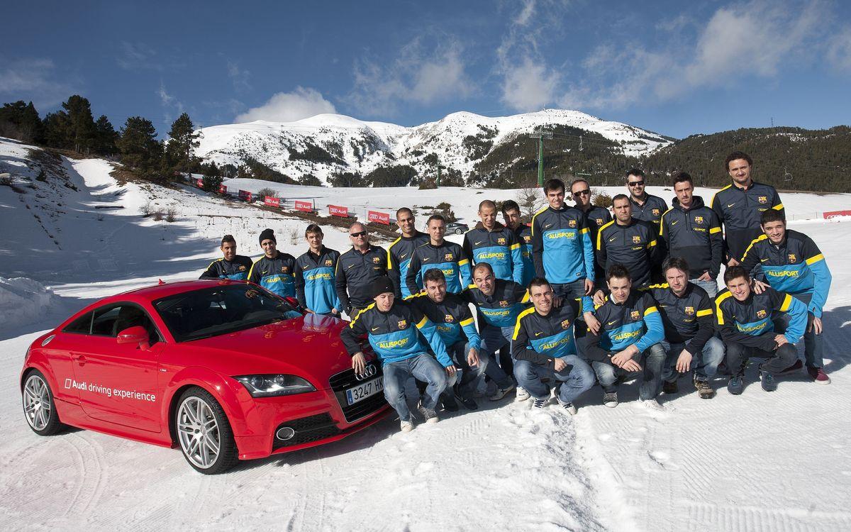 El Barça Alusport passa una jornada diferent a la Molina de la mà d'Audi