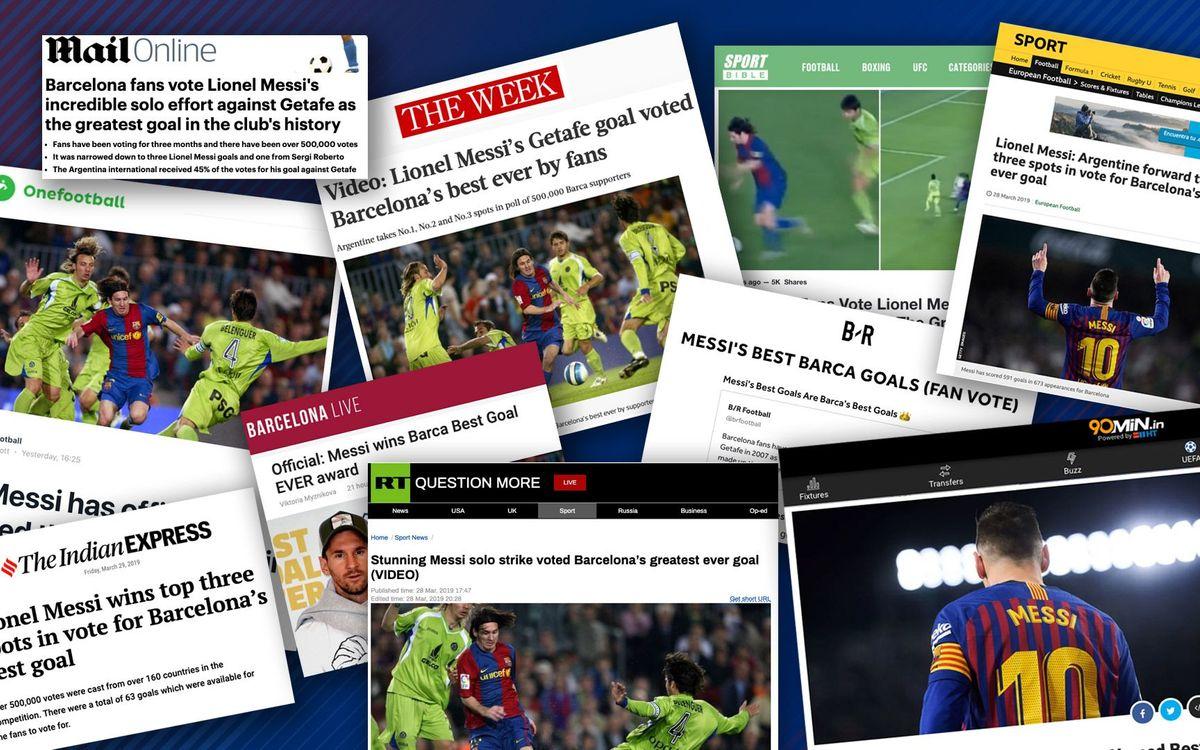 Gran ressò en la premsa internacional del Best Goal Ever