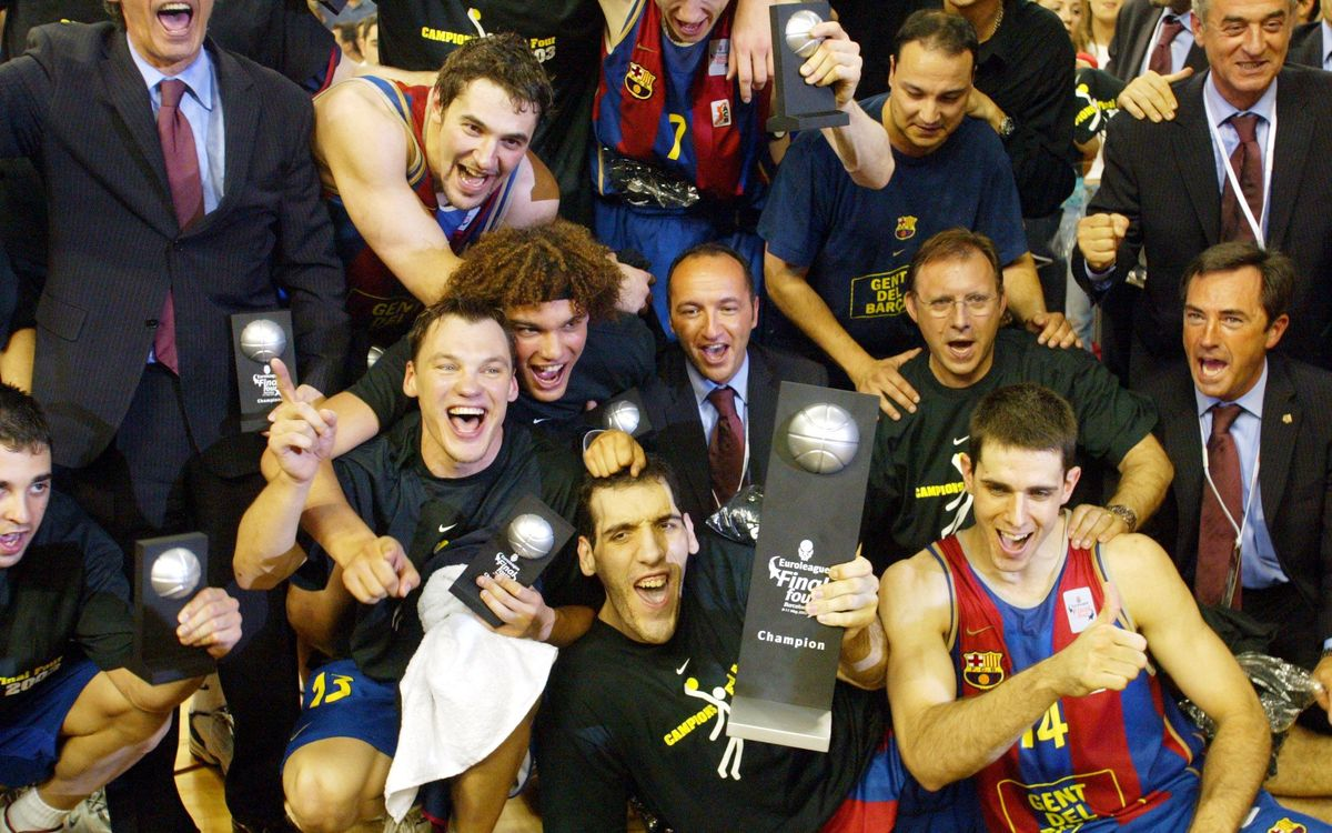 El dijous 4 d'abril, reconeixement als guanyadors de l'Eurolliga 2003