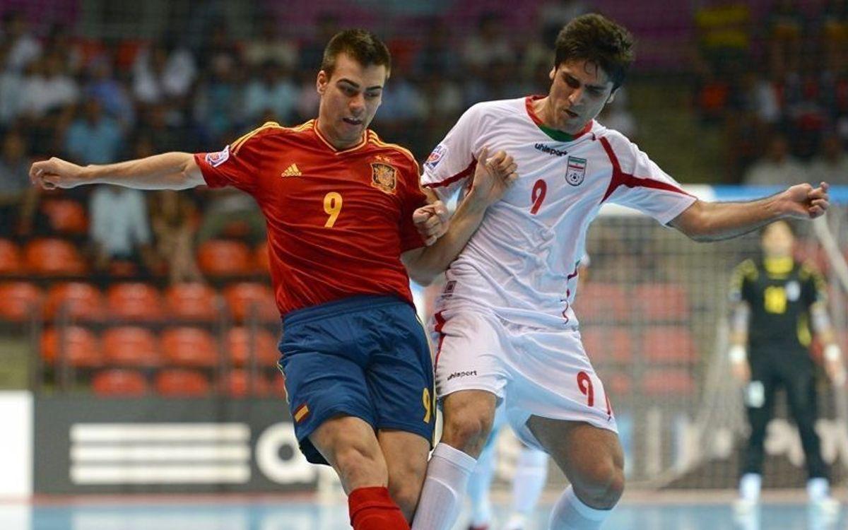 Espanya empata en la seva estrena contra l'Iran (2-2)