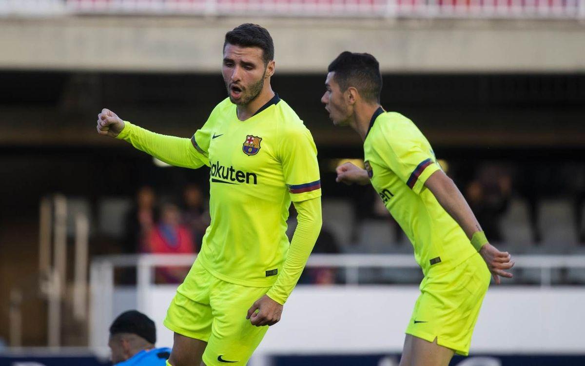 Barça B – CD Terol: Victòria per tornar a mirar amunt (2-1)