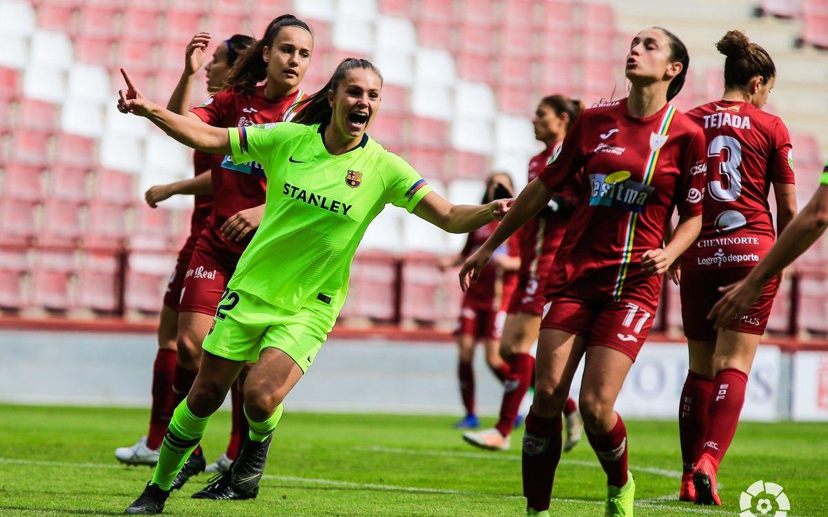 EDF Logronyo – Barça Femení: Guanyen i gaudeixen (0-4)