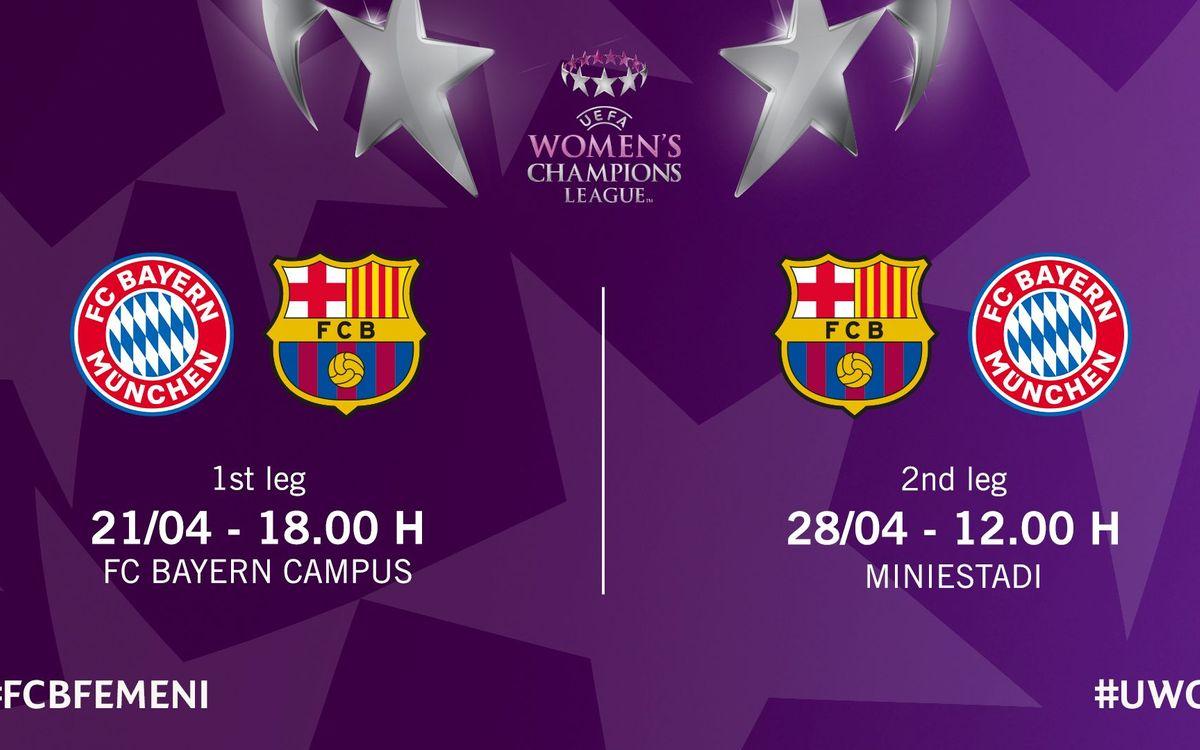 Els horaris de les semifinals de la Lliga de Campions, confirmats