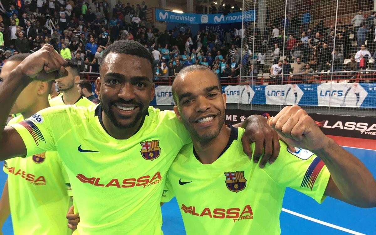 Movistar Inter - Barça Lassa: Golpe de autoridad en Torrejón (1-2)