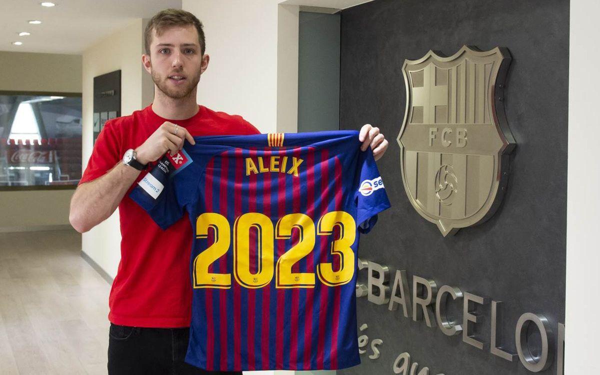 Acord per a l'ampliació de contracte d'Aleix Gómez